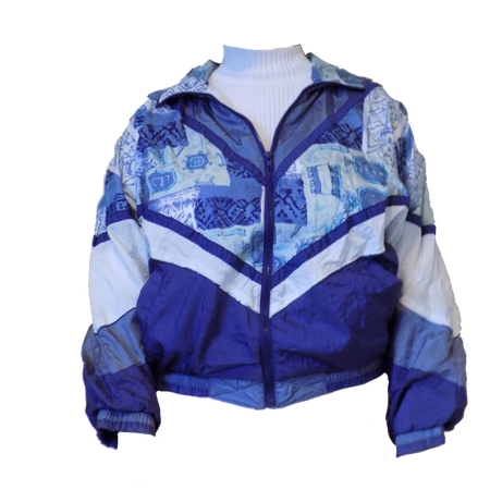 90s blue jacket shared by niko on We Heart It