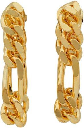 Bottega Veneta, Gold Chain Link Earrings