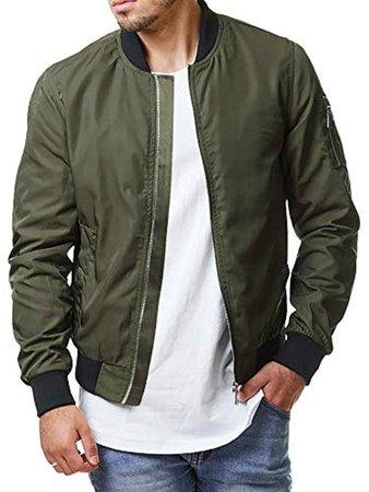 green colour bomber jacket