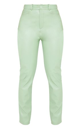 Shape Sage Green Stitch Straight Leg Trousers | PrettyLittleThing USA
