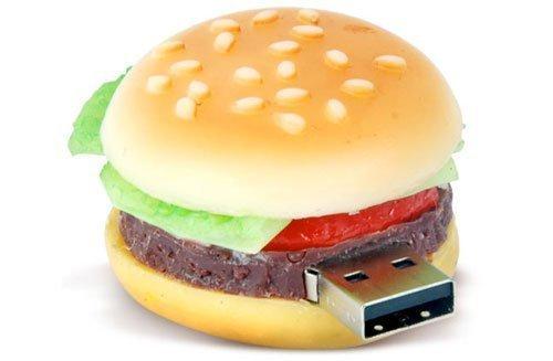 D-CLICK® High Quality 4GB/8GB/16GB/32GB/64GB/Cool USB High speed Flash Memory Stick Pen Drive Disk (8GB, Hamburger)