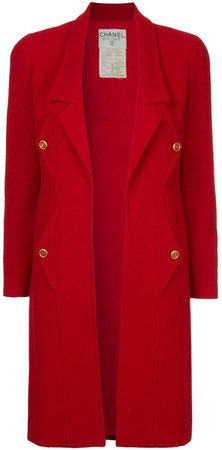 Pre-Owned open midi coat