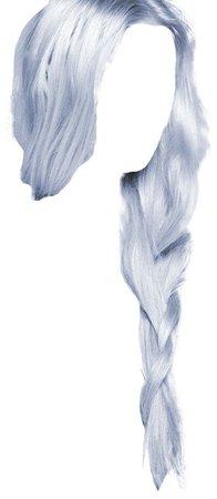 pastel blue braid hair