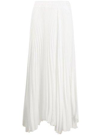 Styland pleated asymmetric skirt