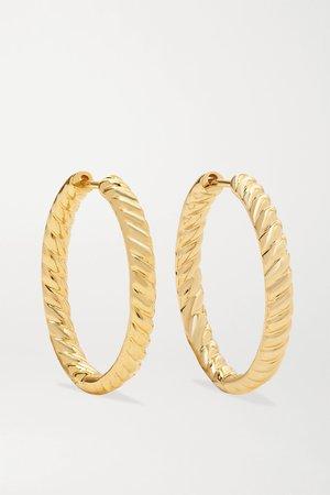Gold Zoe 18-karat gold hoop earrings   Anita Ko   NET-A-PORTER