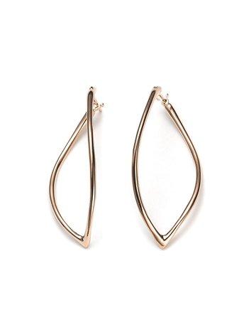 MATTIOLI 18kt Rose Gold Navette Earrings - Farfetch