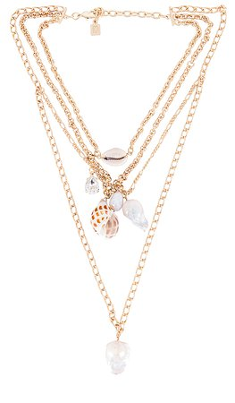 DANNIJO Syd Layered Necklace in Gold | REVOLVE