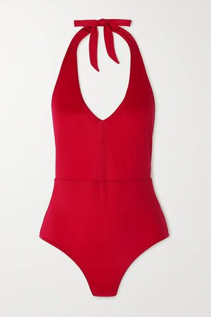 Odyssee - Edison Halterneck Swimsuit - Red