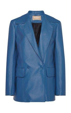 Oversized Faux Leather Blazer by MATÉRIEL | Moda Operandi