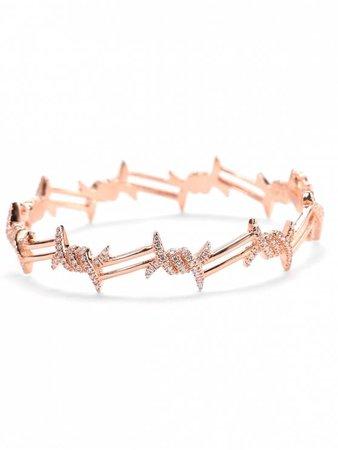 [14% OFF] 2019 Valentine's Day Faux Diamond Bracelet In ROSE GOLD | ZAFUL GB