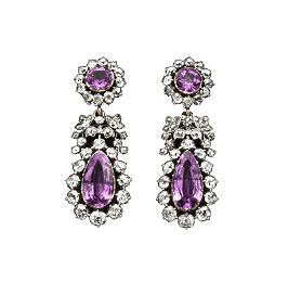 Purple topaz earrings