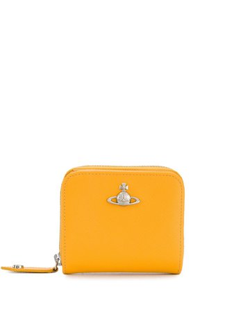 Vivienne Westwood Logo Plaque Zip-Around Wallet 5108002040187 Yellow | Farfetch