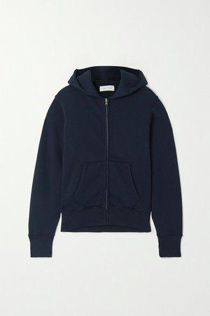 Cotton-jersey Hoodie - Navy