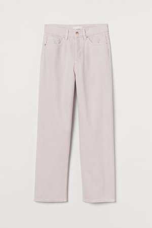 Straight High Ankle Jeans - Purple