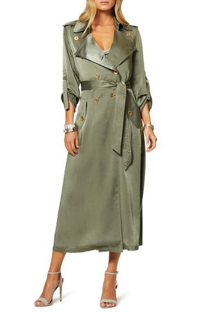 Ramy Brook Aston Satin Trench Coat | Nordstrom