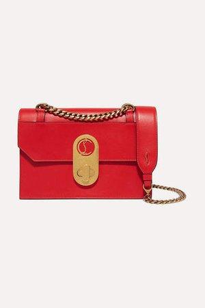 Elisa Small Leather Shoulder Bag - Red