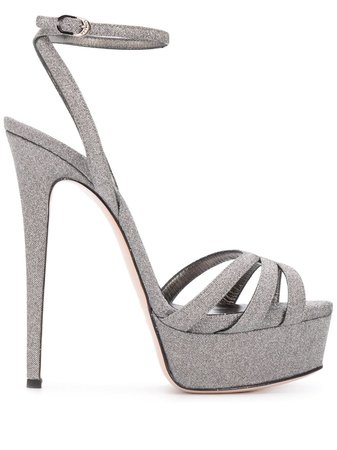 Le Silla Lola 140mm glitter sandals