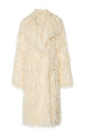 Oversized Shearling Coat by Paco Rabanne   Moda Operandi