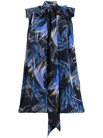 Givenchy knot detail printed dress $2,225 - Buy Online - Mobile Friendly, Fast Delivery, Price
