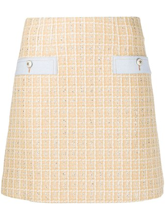 Sandro Paris Tweed Mini Skirt