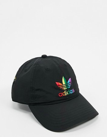 adidas Originals Pride trefoil cap in black | ASOS