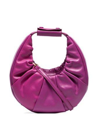 STAUD Gathered Leather Tote Bag - Farfetch