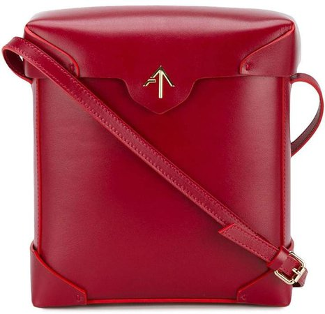Manu Red Pristine leather cross body bag