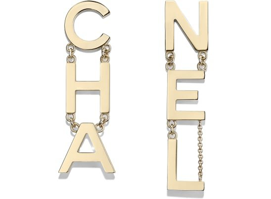 Earrings, metal, gold - CHANEL