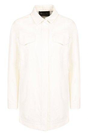 Женский белый однотонная джинсовая куртка с накладными карманами LORO PIANA — купить за 141000 руб. в интернет-магазине ЦУМ, арт. FAI1647