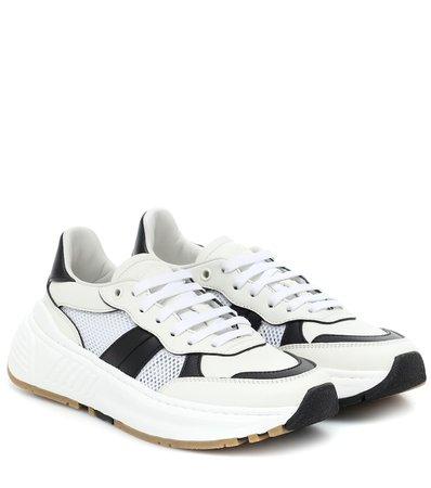 Speedster Leather And Mesh Sneakers, Bottega Veneta