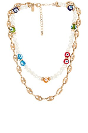 8 Other Reasons Talisman Layered Necklace in Multi | REVOLVE