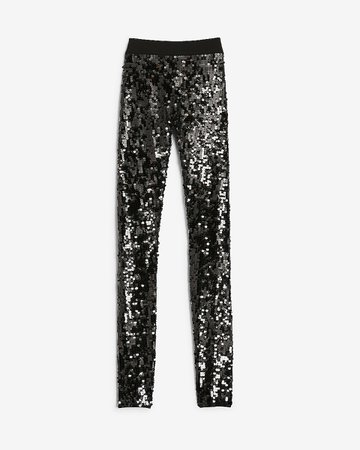 High Waisted Sequin Leggings | Express