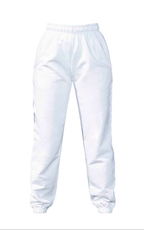 White Casual Jogger | Pants | PrettyLittleThing USA