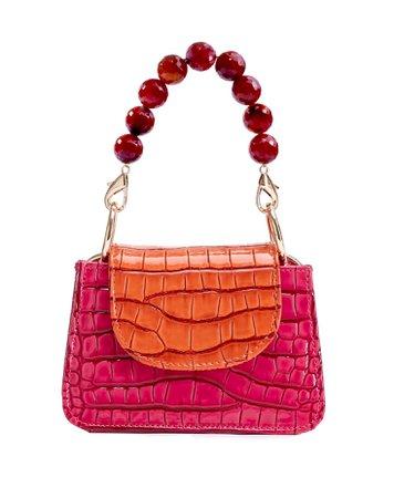 MITCHA. Pink with Orange Horra Bag