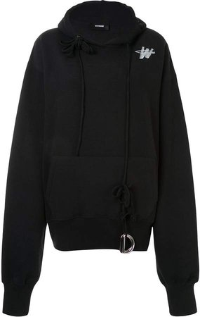 oversized D-ring hooded sweatshirt