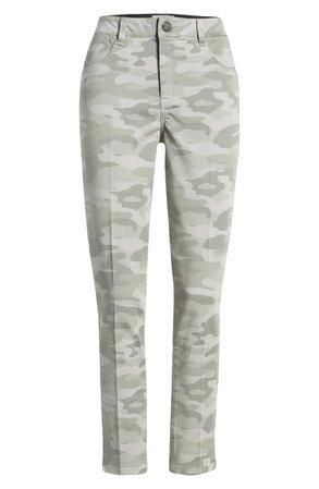 Wit & Wisdom Ab-Solution High Waist Camo Ankle Pants (Regular & Petite)   Nordstrom