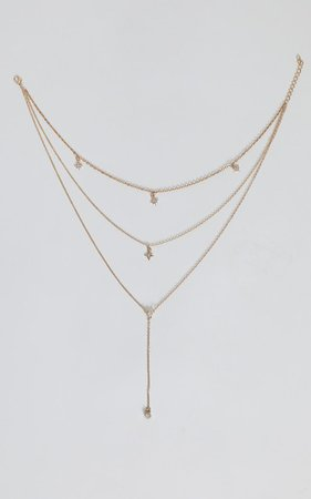 Aimee Layered Necklace in Gold | Showpo
