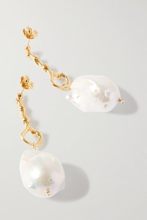 Gold The Olive gold-plated pearl earrings | Alighieri | NET-A-PORTER