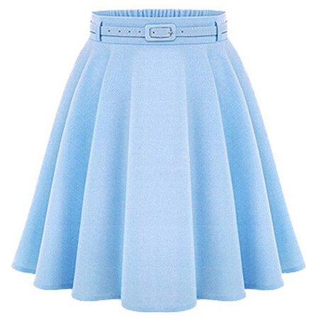 blue belt skirt
