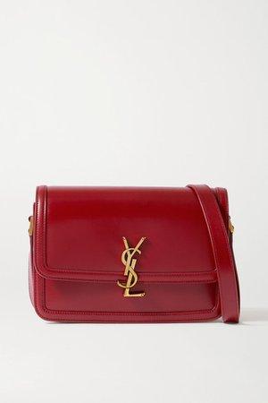 Solferino Medium Leather Shoulder Bag - Red