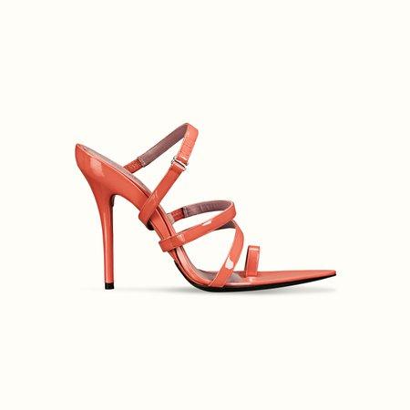 Spiraling patent sandals 115   FENTY
