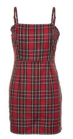 Nibber Retro Red Plaid Dress