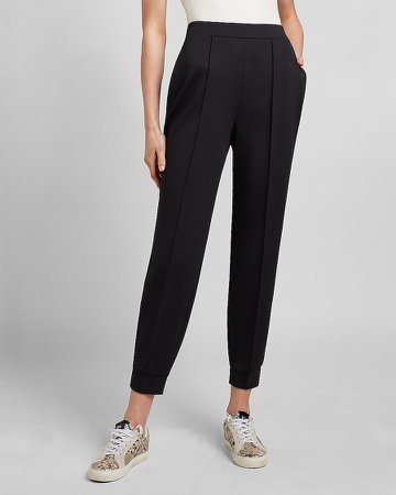 High Waisted Supersoft Double Knit Jogger Pant