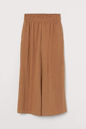 Wide-leg Pants - Beige