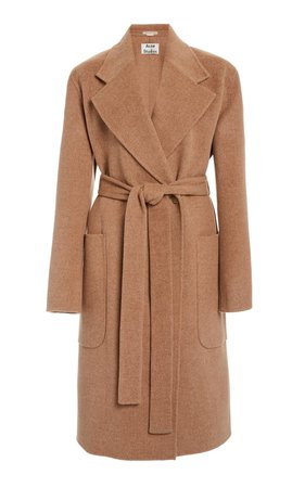 Carice Double Oversized Belted Wool Coat by Acne Studios   Moda Operandi