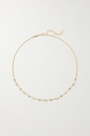 Jacquie Aiche | 14-karat gold diamond choker | NET-A-PORTER.COM