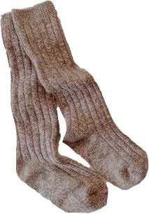 brown marle ribbed socks