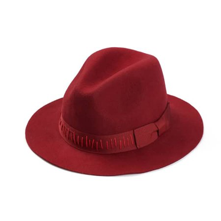 Red Felt Fedora | Justine Hats | Wolf & Badger