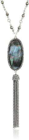 Amazon.com: Lucky Brand Mother-of-Pearl Tassel Necklace: Jewelry