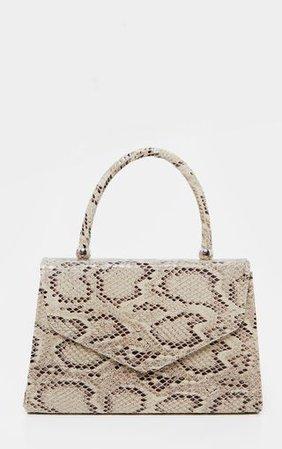 Natural Snake Envelope Grab Bag   Accessories   PrettyLittleThing